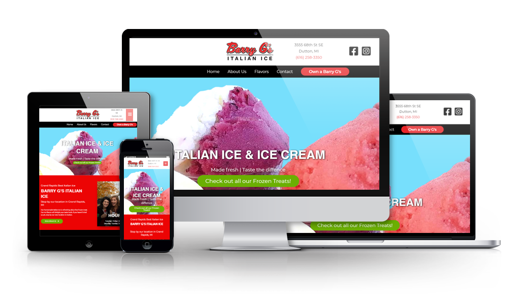 Barry G;'s web design for an italian ice business
