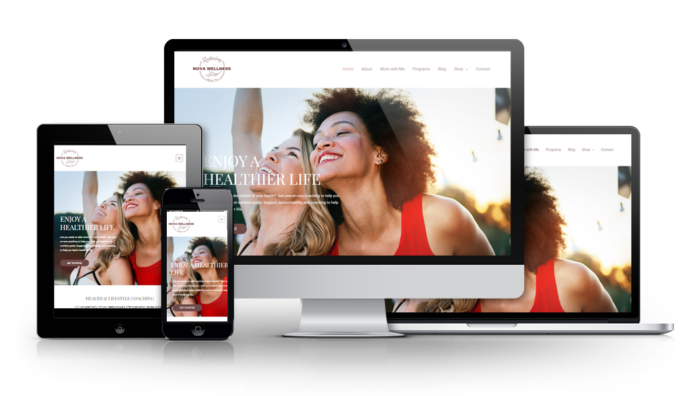 affordable web design for a health coach in Albuquerque