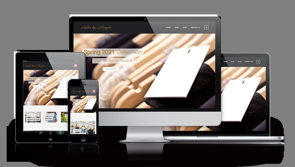 online clothing store web design